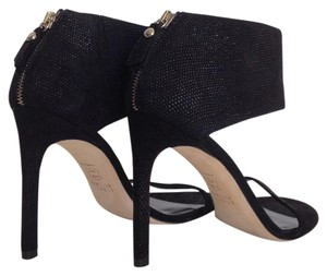 Stuart Weitzman Showgirl Black Sandals