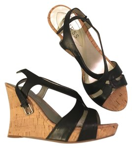Guess Heels Black Wedges