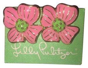Lilly Pulitzer Lilly Pulitzer RARE Pair Of Apple Blossom Flower Earrings