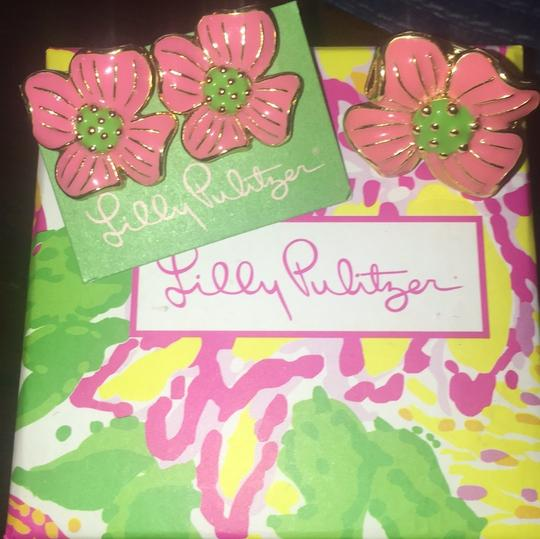 Lilly Pulitzer Lilly Pulitzer RARE Pair Of Apple Blossom Flower Earrings Image 1