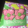 Lilly Pulitzer Lilly Pulitzer RARE Pair Of Apple Blossom Flower Earrings Image 2