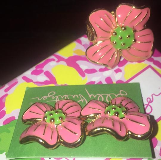 Lilly Pulitzer Lilly Pulitzer RARE Pair Of Apple Blossom Flower Earrings Image 4