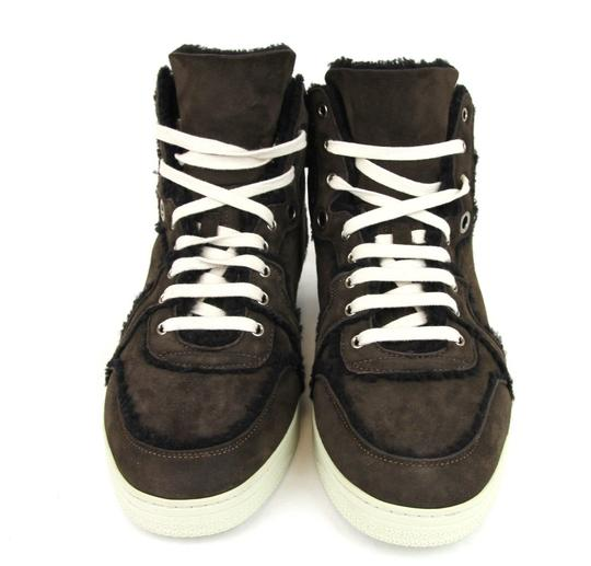 Gucci Cocoa W Shearling High-top Sneaker W/Web 13.5/ Us 14 309408 2140 Shoes Image 2