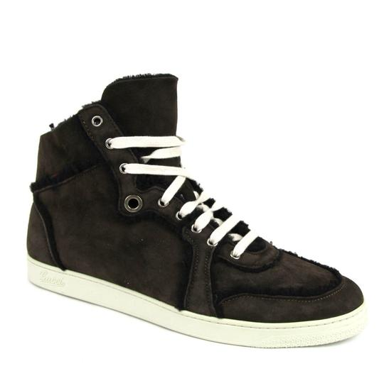 Gucci Cocoa W Shearling High-top Sneaker W/Web 13.5/ Us 14 309408 2140 Shoes Image 4