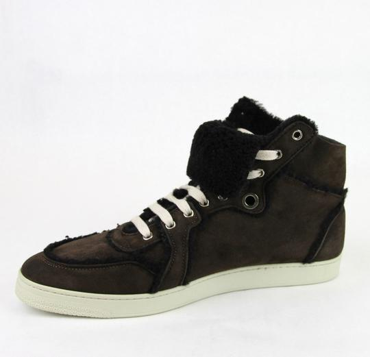 Gucci Cocoa W Shearling High-top Sneaker W/Web 13.5/ Us 14 309408 2140 Shoes Image 6