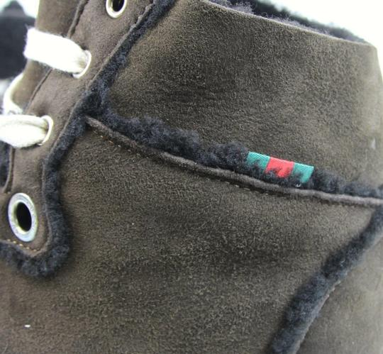 Gucci Cocoa W Shearling High-top Sneaker W/Web 13.5/ Us 14 309408 2140 Shoes Image 7