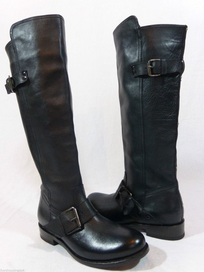 DV by Dolce Vita Leather Knee High Tall Black Boots Image 1