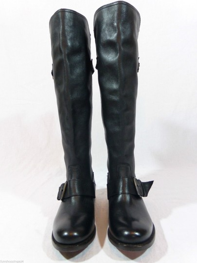 DV by Dolce Vita Leather Knee High Tall Black Boots Image 2