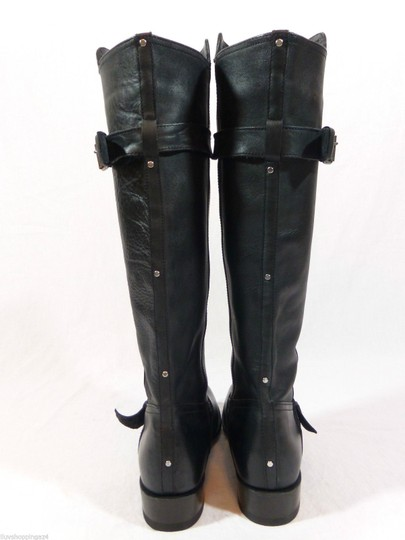 DV by Dolce Vita Leather Knee High Tall Black Boots Image 3