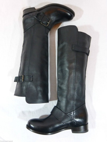 DV by Dolce Vita Leather Knee High Tall Black Boots Image 4