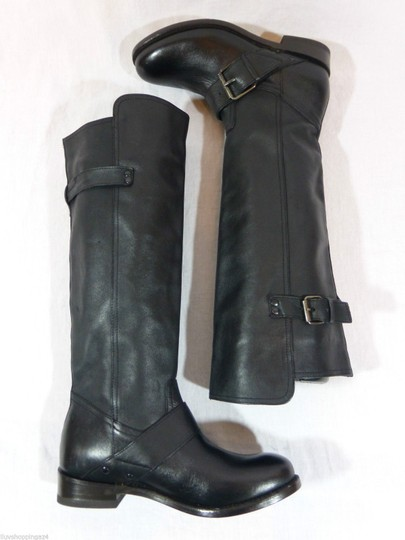 DV by Dolce Vita Leather Knee High Tall Black Boots Image 5