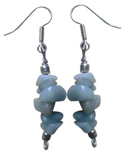 handmade Buy3Get1 FREE New Handmade Genuine AMAZONITE Gemstone EARRINGS NWOT