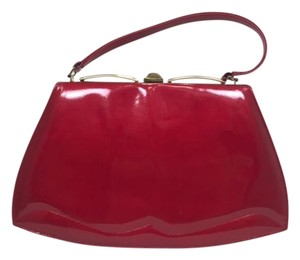 Melbourne Patent Leather Vintage Satchel in Red