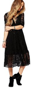 Free People short dress Black Over The Top! on Tradesy