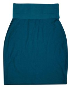 Max Studio Pencil Fitted Skirt Teal