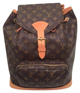 Louis Vuitton Canvas Monogram Gold Hardware Backpack