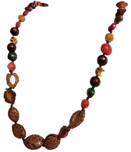 Other Long Hand Painted Seed Strand Necklace 14k Gf Clasp