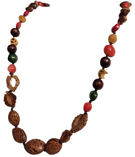 Preload https://img-static.tradesy.com/item/19851596/multicolor-long-hand-painted-seed-strand-14k-gf-clasp-necklace-0-1-540-540.jpg
