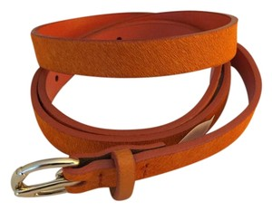 Banana Republic Banana Republic Orange Leather with Fur Print Belt