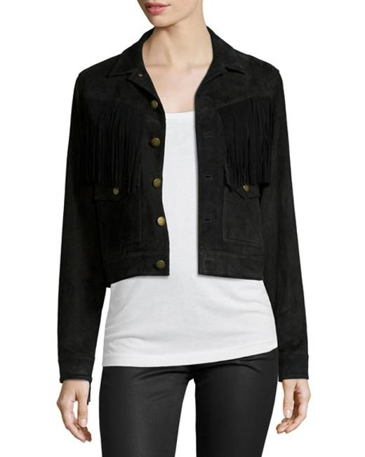 Current/Elliott black Leather Jacket Image 2