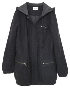 Steven Alan Wool Winter Hooded Pea Coat