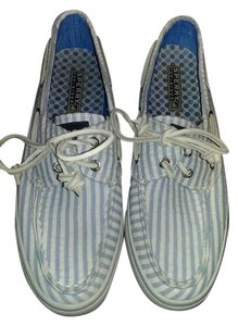 Sperry Top Sider Boat Women Size 6.5 Blue and white Flats