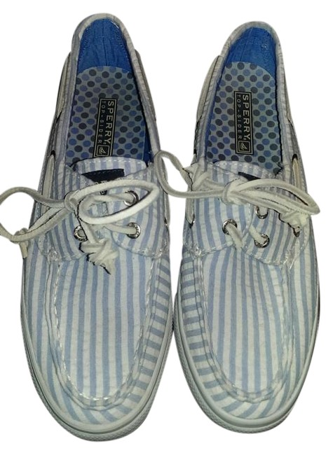 Item - Blue and White Seaside Collection Flats Size US 6.5 Regular (M, B)