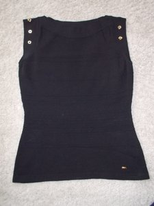 Escada Top Black with Gold Holes