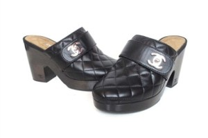 Chanel Slides Black Chanel Quilted Lambskin Mules Mules