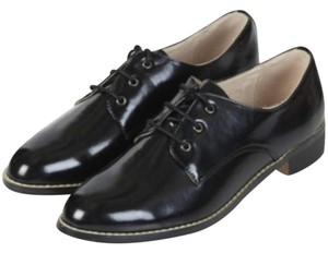 Topshop Oxfords Black Flats
