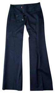 Cynthia Steffe Work Trouser Pants Blue Pin Striped
