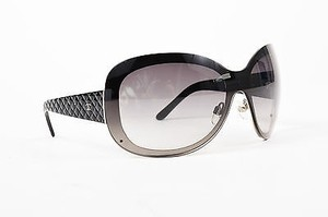 Chanel Chanel Black Gray Quilted Cc Oval Shield 4159 Sunglasses