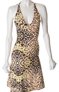 Just Cavalli short dress green,brown,beige,animal print on Tradesy