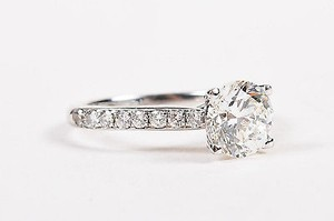 18k White Gold 1.40ct Round Brilliant Engagement Ring