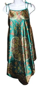 SHENG TANEKUVI short dress Green- Multi Sexy Green Paisley Lounge Gown New Chinese on Tradesy