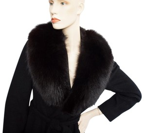 Regency Cashmere Fox Fur Collar Fur Coat