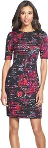 Taylor Scuba Sheath Floral Dress