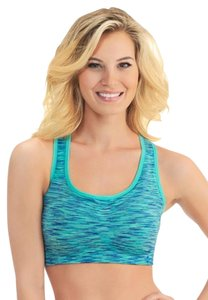 Lily of France Reversible Medium-Impact Santoni Sports Bra, Sz L