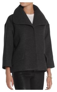 Miu Miu Gray Wool Short Coat Blazer