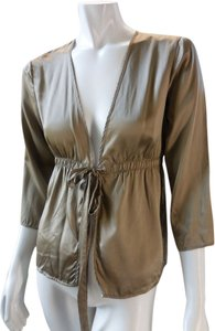 Gap Beige Shimmer Evening Top Taupe