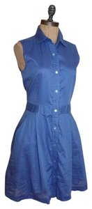 Theory short dress BLUE Soreda Shirt Size 4 on Tradesy