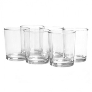 Candles 4 Less Clear Glass Holders Votive/Candle