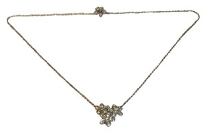 Van Cleef & Arpels VAN CLEEF & ARPELS Socrate Diamond 18k White Gold 3 Flower Necklace