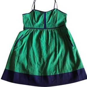 COPE short dress Green and Navy on Tradesy