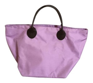 Herve Chapelier Travel Friendly Zippered Closure Tote in LAVENDER