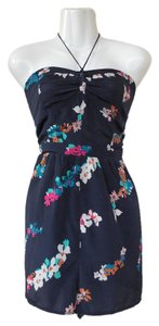 American Eagle Outfitters Floral Halter Strapless Sweetheart Dress