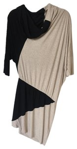 Mason short dress Black and Cream/Grey Asymmetrical on Tradesy