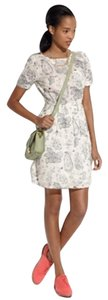 Madewell short dress Cream Mapview Globe on Tradesy