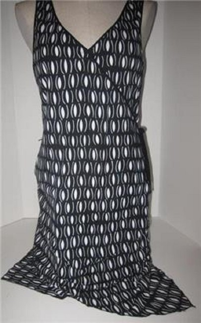 Laundry by Shelli Segal short dress black and white mod diamond print Day To Night Style New/Unused With Tags B/W Wrap Look W Belt Or on Tradesy Image 1