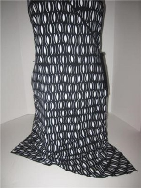 Laundry by Shelli Segal short dress black and white mod diamond print Day To Night Style New/Unused With Tags B/W Wrap Look W Belt Or on Tradesy Image 4